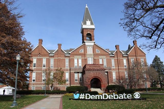 Des Moine's Drake University ahead of the second Democratic presidential debate - PAUL HEINTZ