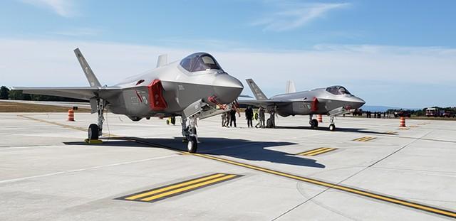 Two F-35s - FILE: KEVIN MCCALLUM