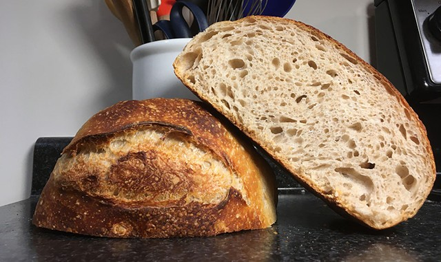 Homemade sourdough bread baked by Seven Days reporter Margaret Grayson - MARGARET GRAYSON