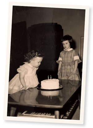 A young Paula Routly and her sister