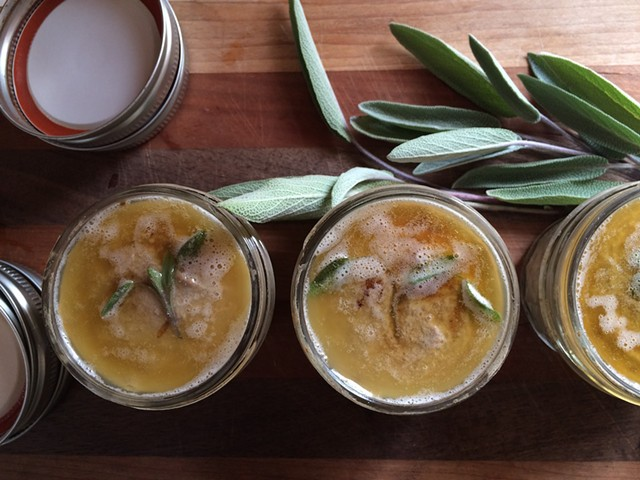 Pork liver mousse with sage and brown butter - HANNAH PALMER EGAN
