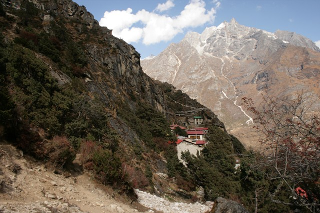 Rinpoche's Gompa (school) in the Himalayas - JAN REYNOLDS