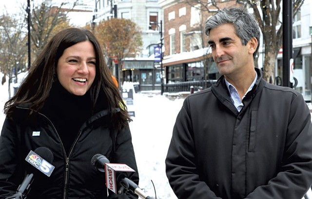 Kara Alnasrawi and Mayor Miro Weinberger - FILE: COURTNEY LAMDIN