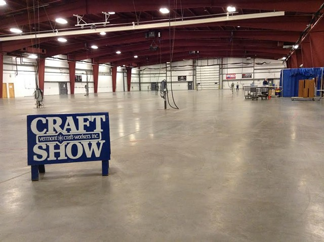 Setting up for a previous Essex Craft Show at Champlain Valley Exposition - COURTESY OF MEGAN ROSE