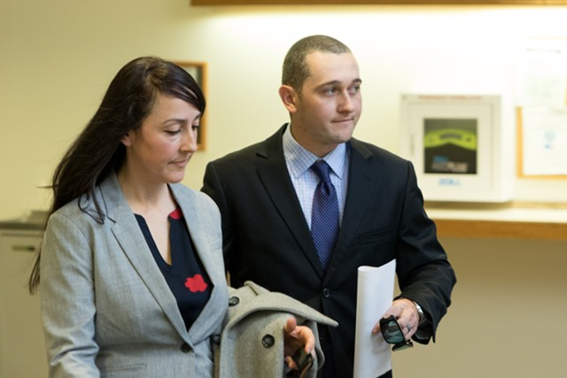 Jason Lawton, right, with his attorney, Rebecca Otey - FILE: COLIN FLANDERS