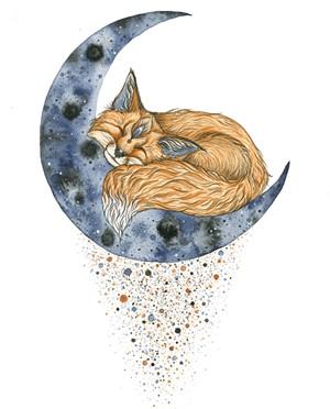"""""""Fox Moon"""" by Nikki Laxar"""