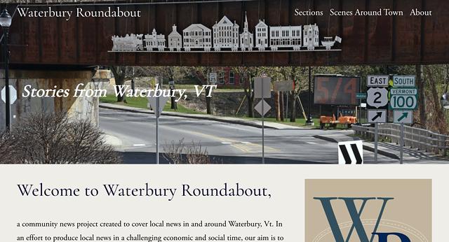 Waterbury Roundabout home page - SCREENSHOT