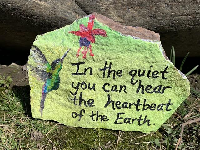 A Love Rock in South Burlington - DAN BOLLES