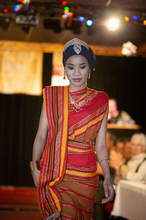 Zahara Abdi at the Karibu fashion show - COURTESY OF JEFFERY TACKIE