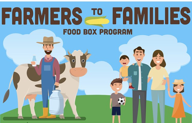 Farmers to Families Food Box Program poster, detail - THE ABBEY GROUP