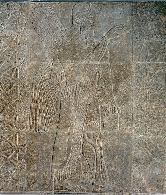 The Assyrian relief panel at the Middlebury College Museum of Art - COURTESY OF THE MIDDLEBURY COLLEGE MUSEUM OF ART