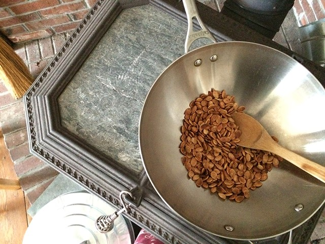 Roasty, toasty woodstove seeds - HANNAH PALMER EGAN