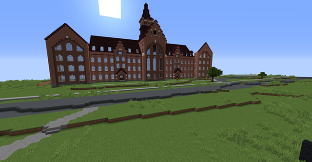 The in-progress Old Mill building at UVM - COURTESY OF UVM CAMPUSCRAFT