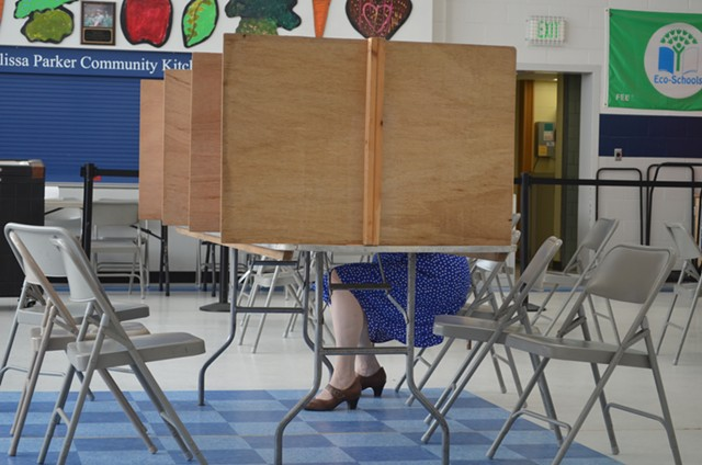 A voter in Burlington's Old North End - FILE: ALICIA FREESE