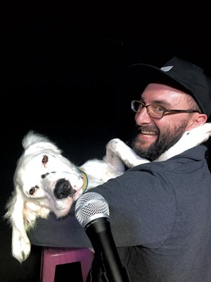 Anthony Apodaca and his dog, Seamus - DAN BOLLES