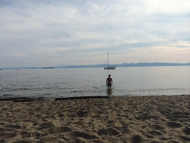 A swimmer at North Beach in Burlington. - ALICIA FREESE