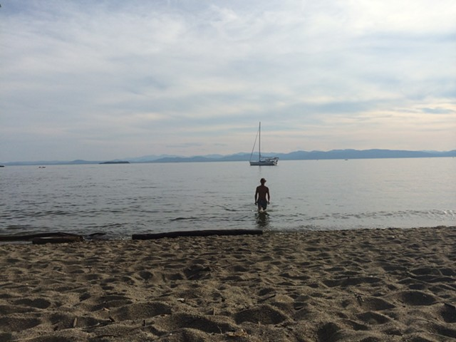A swimmer at North Beach in Burlington. - ALICIA FREESE