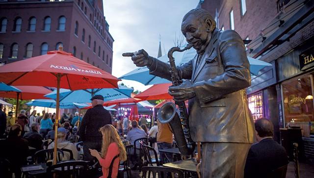 Statue of Big Joe Burrell - COURTESY OF BRIAN MACDONALD