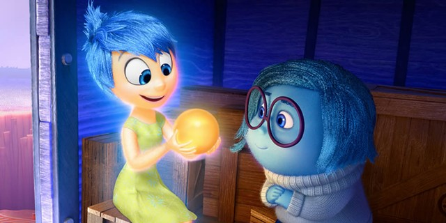 Joy and Sadness in Inside Out - DISNEY/PIXAR