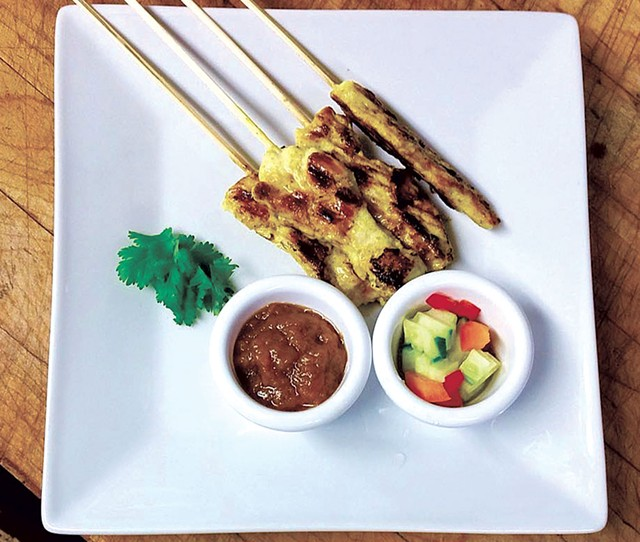 Chicken skewers at Fit to be Thai'd - COURTESY OF FIT TO BE THAI'D