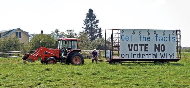 A sign in Irasburg - IRASBURG RIDGELINE ALLIANCE