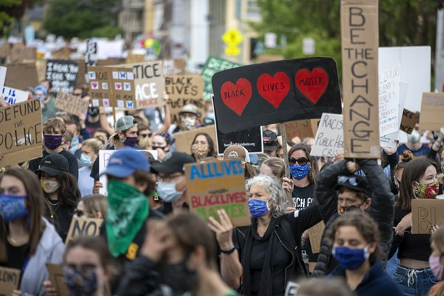 Protesters on the march - JAMES BUCK