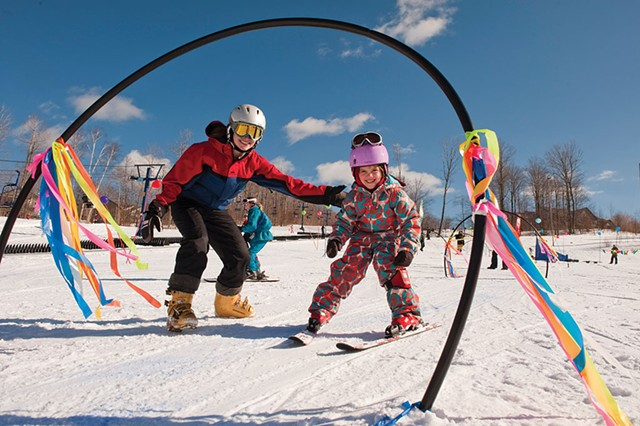 Learning to ski at Smugglers' Notch Resort - COURTESY OF SKI VERMONT
