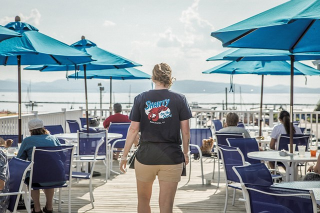 Waitstaff member Dana Nelson at Shanty on the Shore - LUKE AWTRY