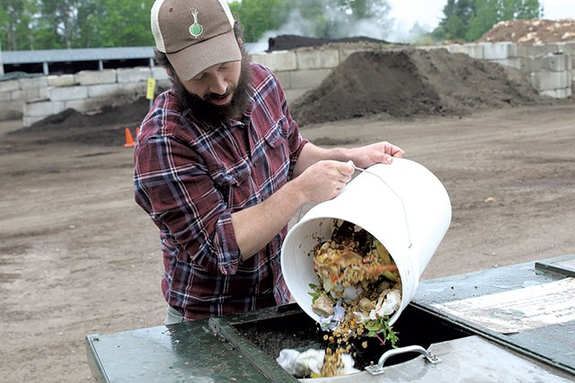 Isaac Colby of Some Dude's Composting Company - COURTNEY LAMDIN