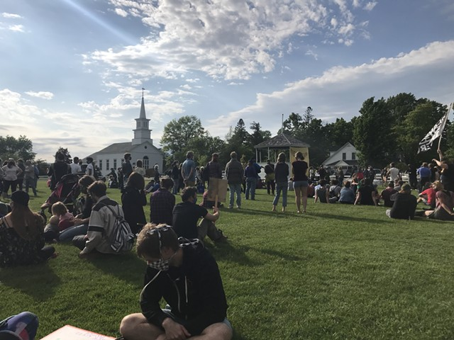 The rally on Craftsbury Common - COURTESY OF KATHERINE SIMS