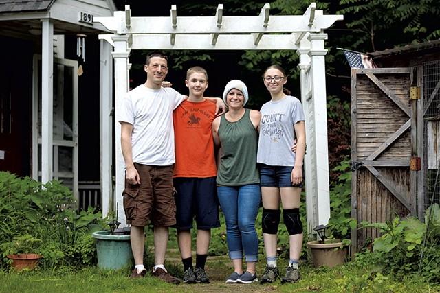 From left: Ben, Caleb, Sally and Ella Roberts - BEN DEFLORIO
