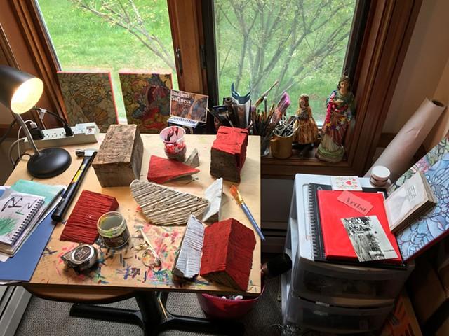 Wylie Garcia's studio - COURTESY PHOTO