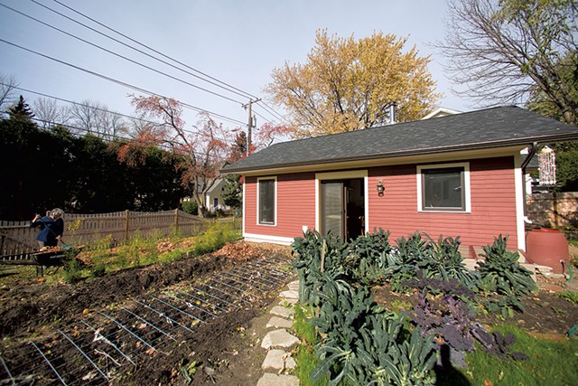 The city waived an off-street parking requirement so the tiny house can have a garden instead. - JAMES BUCK