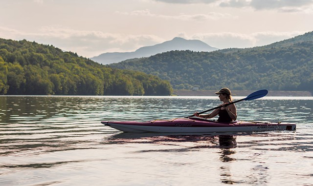 Kayaking on the Waterbury Reservoir - NATHANAEL ASARO
