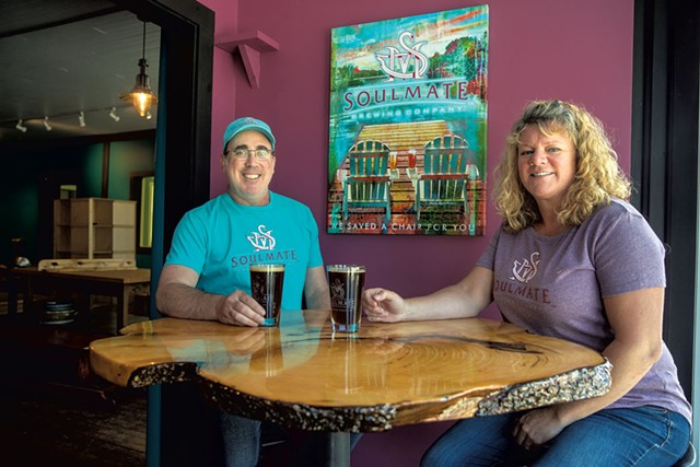 Jonathan and Carol Mogor of Soulmate Brewing - JAMES BUCK