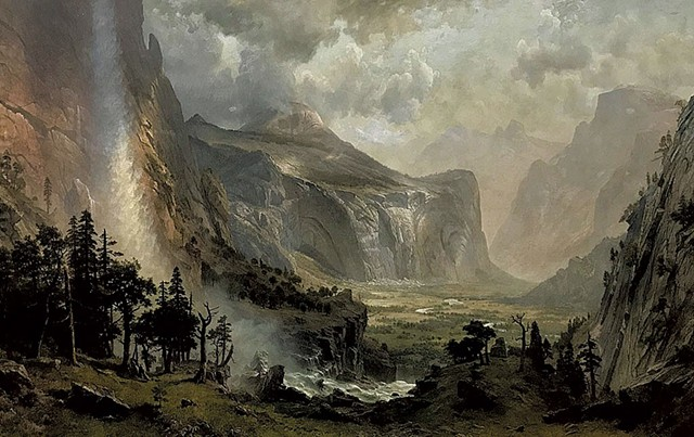 """The Domes of Yosemite"" by Albert Bierstadt - COURTESY OF ST. JOHNSBURY ATHENAEUM"