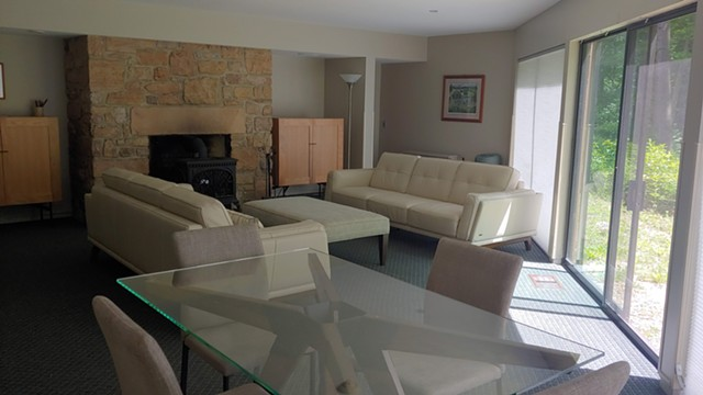 A conference center lounge included in the two-bedroom suite rental - COURTESY OF ROCK POINT