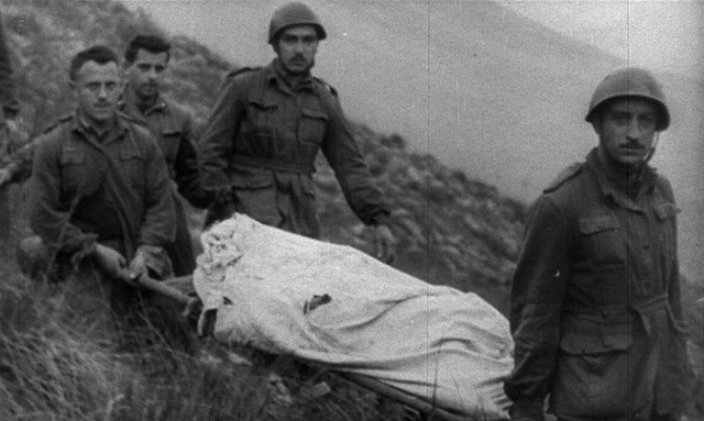 One of the film's many body bags. - U.S. WAR DEPARTMENT