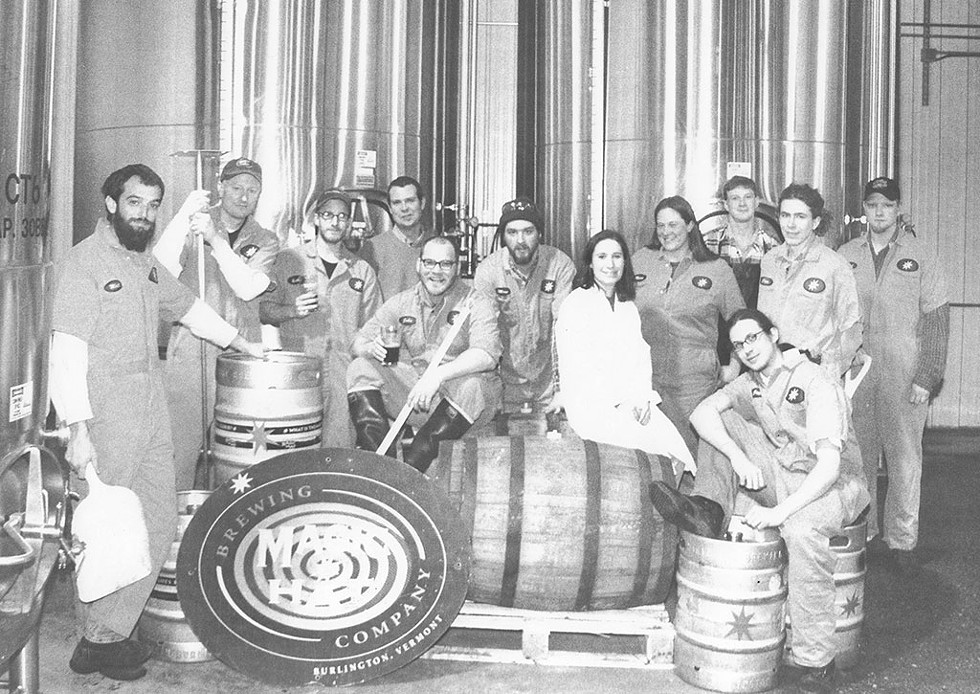 Magic Hat brew staff in the early 2000s - COURTESY