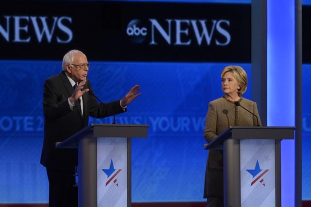 Bernie Sanders and Hillary Clinton debate in Goffstown, N.H. - ABC/ IDA MAE ASTUTE