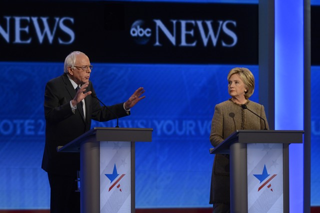 Bernie Sanders and Hillary Clinton debate in Goffstown, N.H. - ABC/ IDA MAE ASTUTE