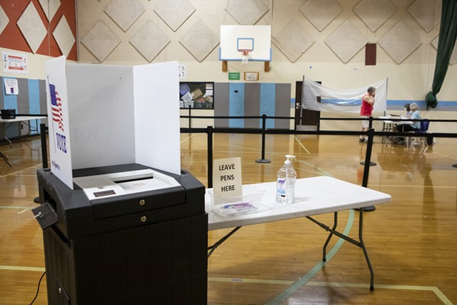 A South Burlington polling place in May - FILE: LUKE AWTRY