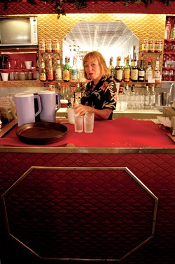 Martha behind the bar at Bove's in 2004 - MATTHEW THORSEN