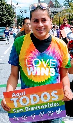 Durvi Martinez at a Burlington Pride Parade in 2019 - COURTESY OF MIGRANT JUSTICE