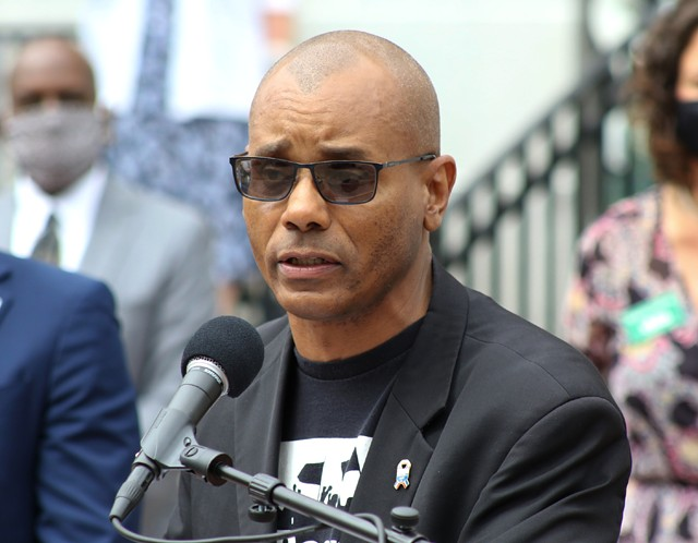 Mark Hughes of the Vermont Racial Justice Alliance - COURTNEY LAMDIN ©️ SEVEN DAYS