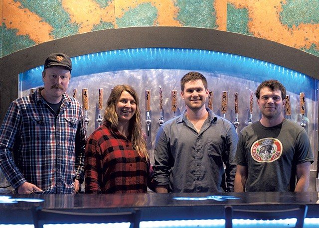 From left: Todd Haire, Dani Casey, Bobby Grim and Sam Keane of Foam Brewers - FILE: HANNAH PALMER EGAN ©️ SEVEN DAYS