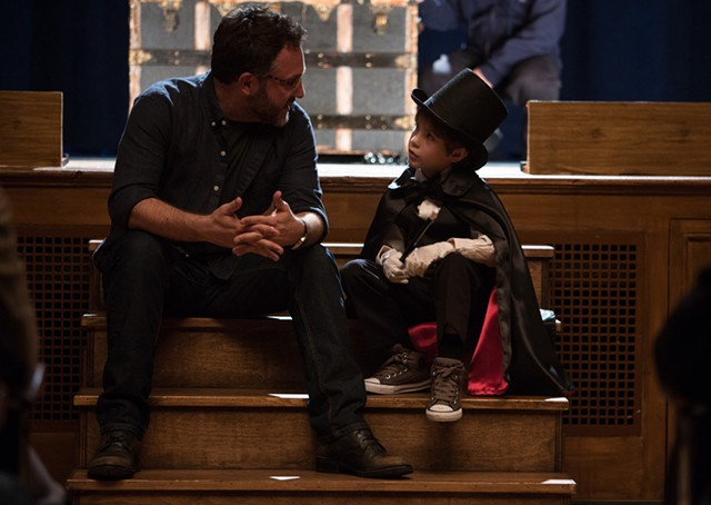 Director Colin Trevorrow (left) and actor Jacob Tremblay on the set of The Book Of Henry - COURTESY OF ALISON COHEN ROSA/FOCUS FEATURES