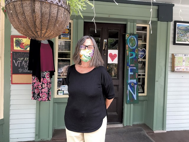 Peggy Potter of Artisans' Gallery - SALLY POLLAK ©️ SEVEN DAYS