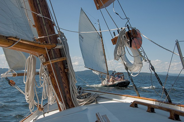 The Friend Ship and the Wild Rose on Lake Champlain - COURTESY OF HANNAH LANGSDALE / WHISTLING MAN SCHOONER COMPANY