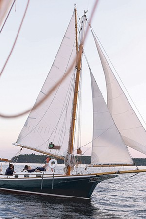 The Wild Rose on Lake Champlain - COURTESY OF HANNAH LANGSDALE / WHISTLING MAN SCHOONER COMPANY